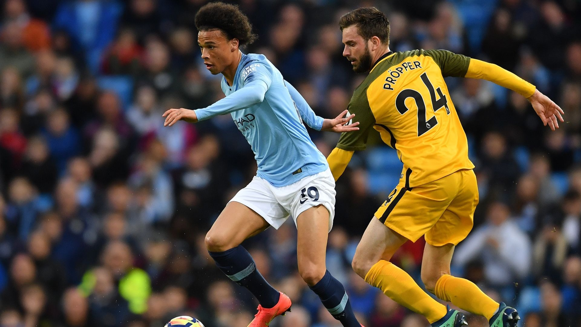 Manchester City's Leroy Sane.