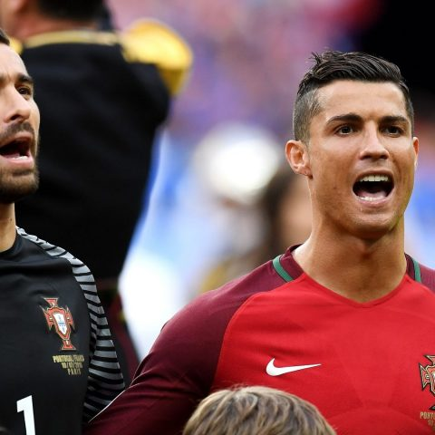 Cristiano Ronaldo knows the Portugal national anthem.