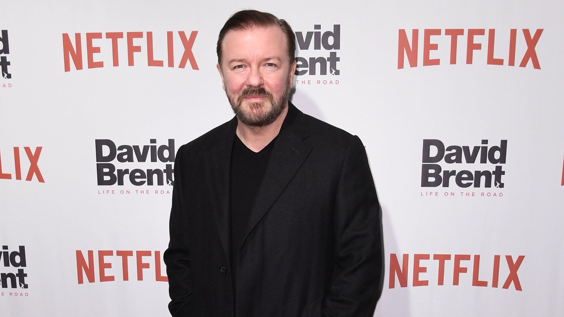 Comedian Ricky Gervais.