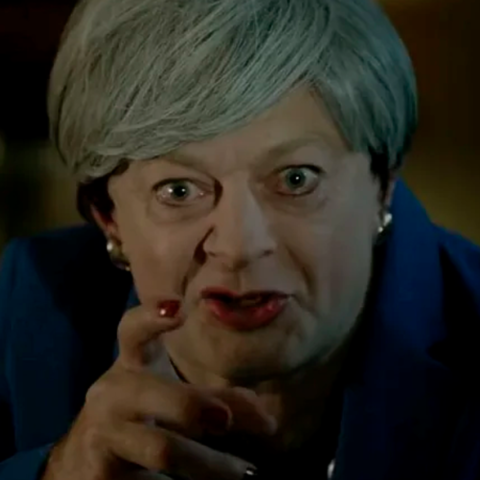 Andy Serkis revives Gollum for inspired Theresa May Brexit spoof.