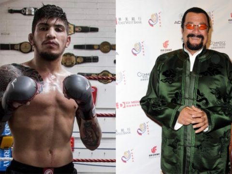 MMA star Dillon Danis challenges Steven Seagal to a cage fight.