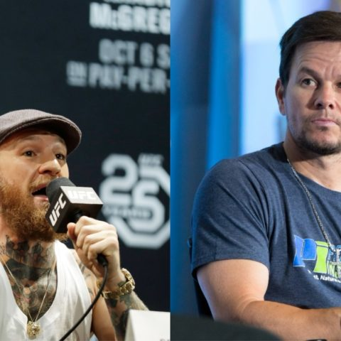 Conor McGregor challenges 'Hollywood actress' Mark Wahlberg to a fight.